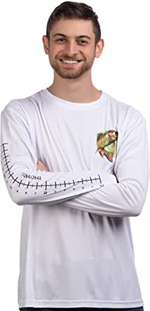 Fishing Ruler | Long Sleeve Wicking Fisherman Shirt w/Ruler on Forearm T-Shirt