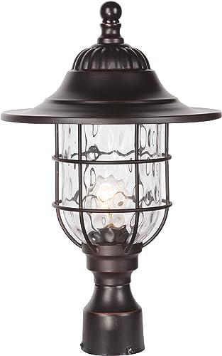Craftmade Z5825-OBG Fairmont Outdoor Pier Mount Post Lighting, 1-Light, 100 Watts, Oiled Bronze Gilded 12 W x 18 H