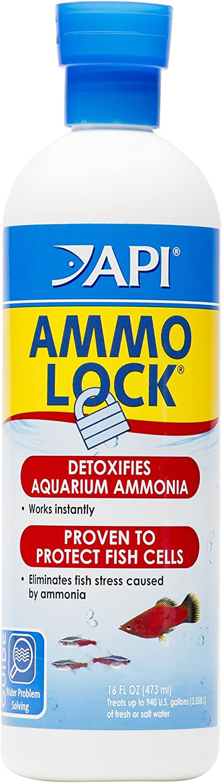 API AMMO-LOCK Ammonia detoxifier, Detoxifies ammonia toxic to fish in aquarium water and tap water, Use when ammonia is detected