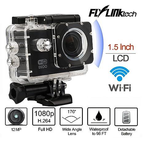 Cámara de acción HD Wifi Casco Cam videocámara deportiva impermeable con Kit de accesorios gratuito y