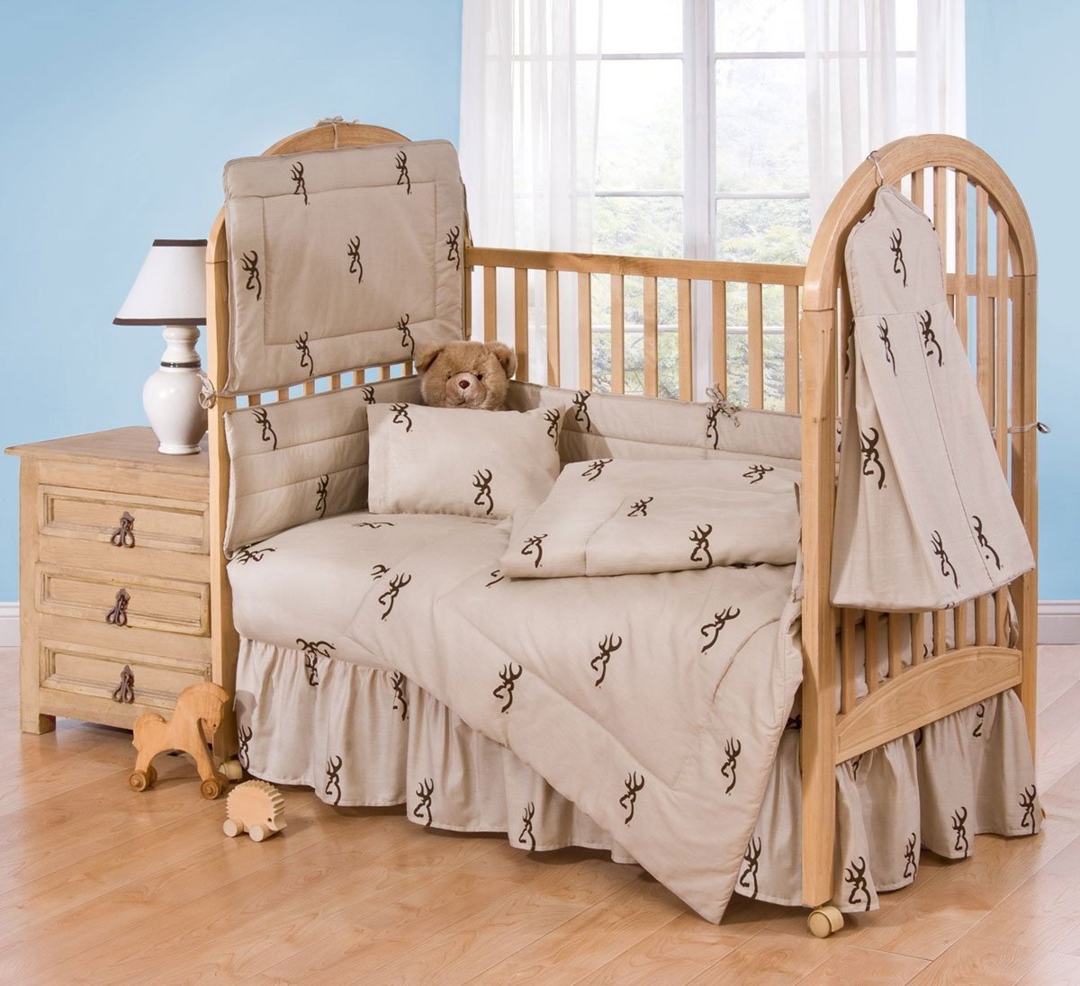 Buckmark 2 Piece Crib Bedding Set Color: Brown by Browning   B008ECG0RS