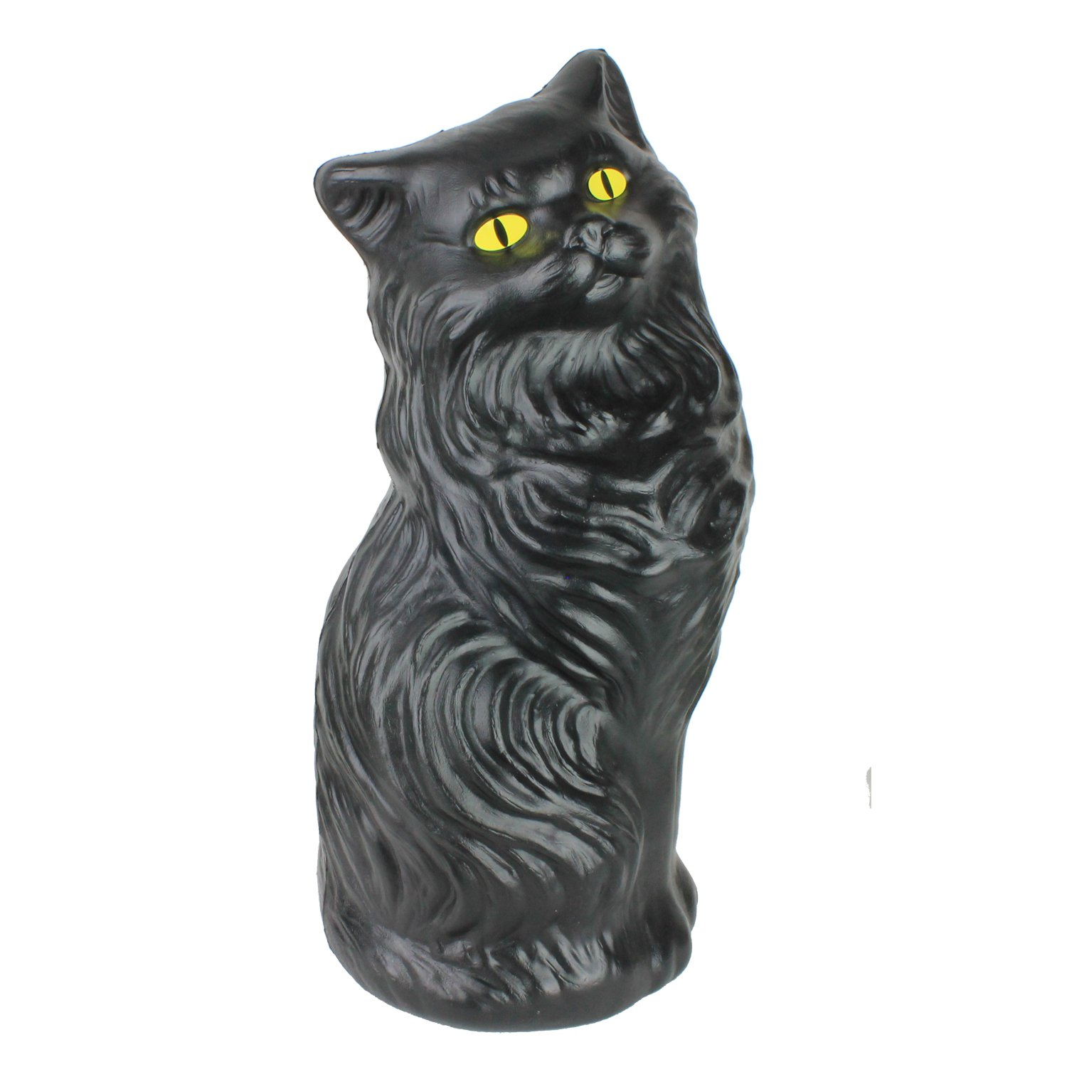 Fantazia Marketing Black Cat Money Bank 17 inch Plastic Blow-Mold Decoration - Classic Retro Design by Fantazia Marketing