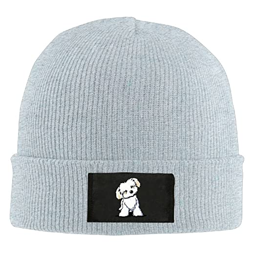 Amazon.com  Cute Maltese Puppy Dog.PNG Mens Slouchy Beanie Hats Warm Knit  Cap  Clothing 07505dead1a