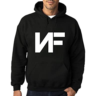 31b3efa6d2e76 Amazon.com  Men s NF White Font Hoody Sweatshirts Black  Clothing