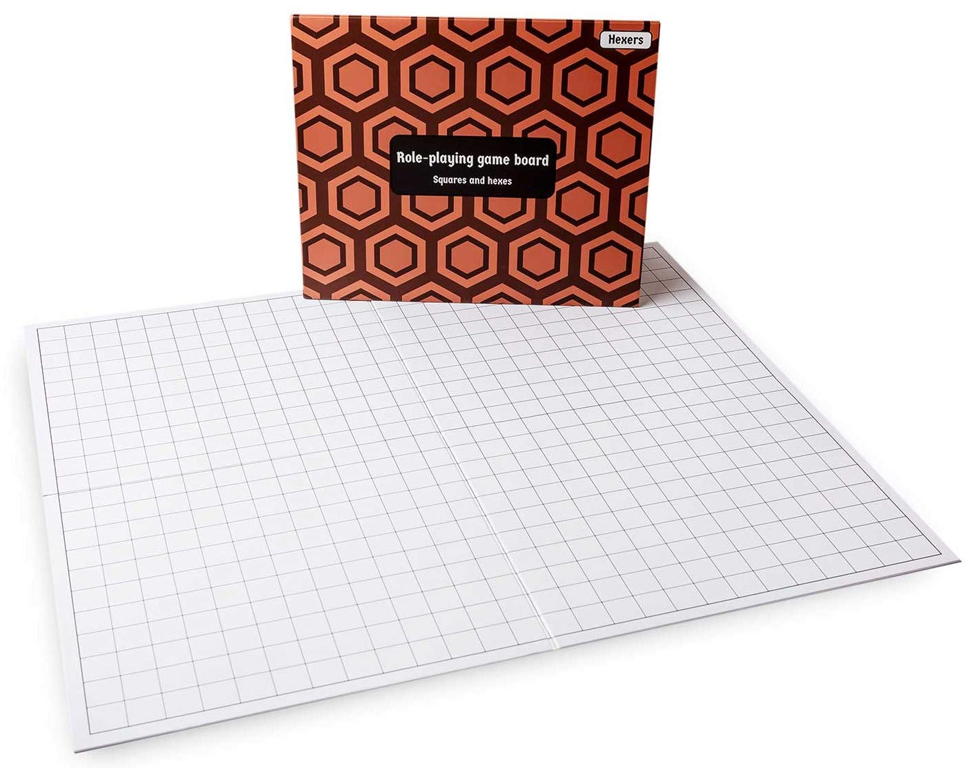 Hexers Role-Playing Game Board lite Vinyl Mat Alternative Dungeons and Dragons DND Pathfinder RPG Compatible, 27 on 23 inches, 1 inch Squares on one Side, Hexes on Other Side, Foldable and Dry Erase by Hexers