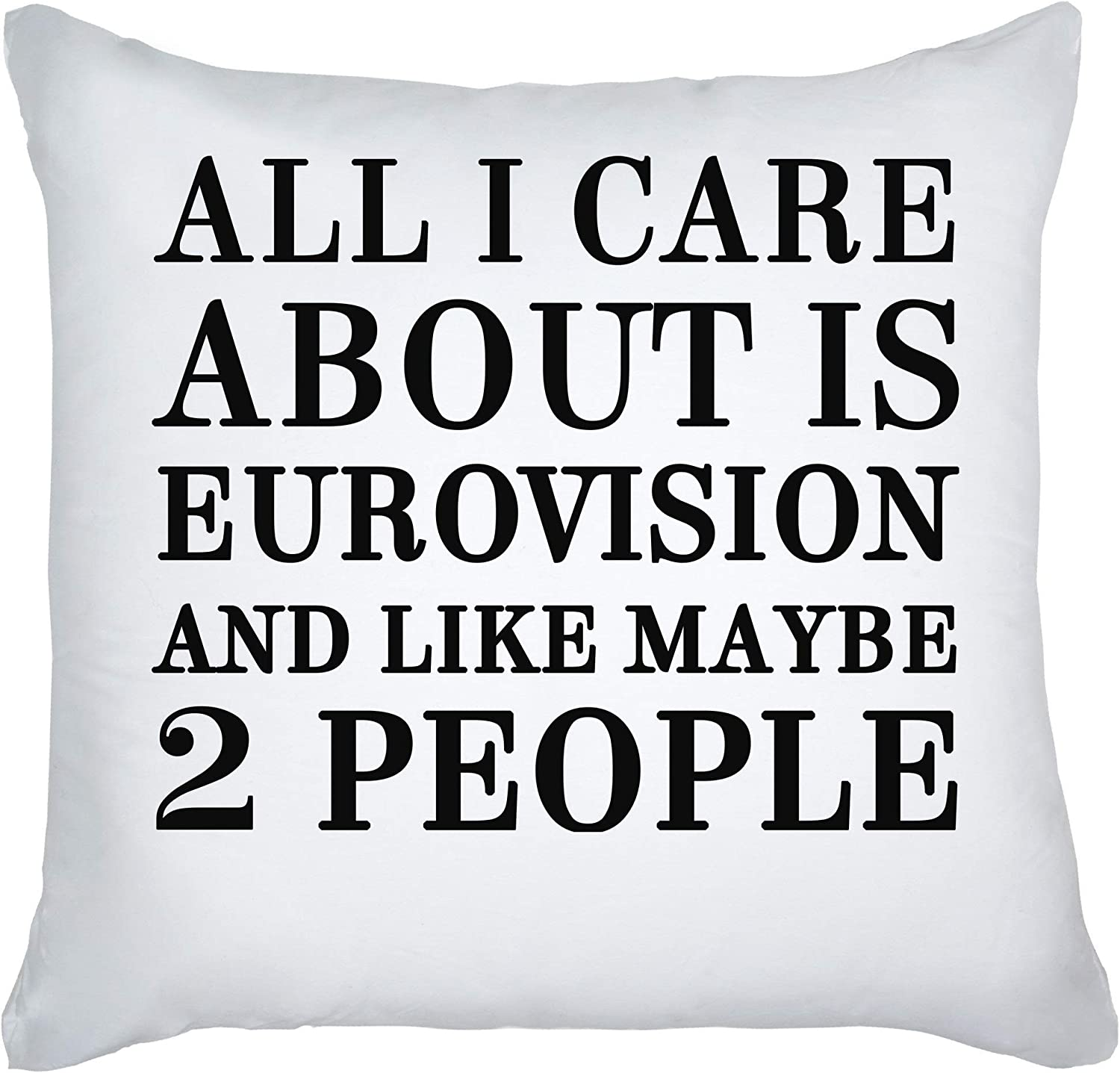 graphke All I Care About Is Eurovision and Like Maybe 2 People Decorative Pillow: Amazon.es: Hogar