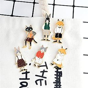 Amazon.com: YHDBH Pines y Broches Rab/ox/Cat pareja ...