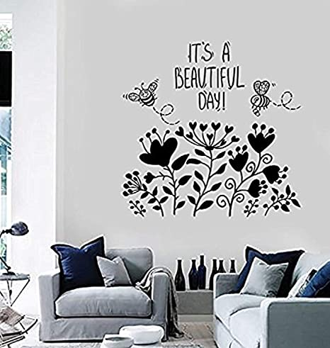 Contemporary Kitchen Flowers Wall Stickers Art Home Decoration House Quote Decal