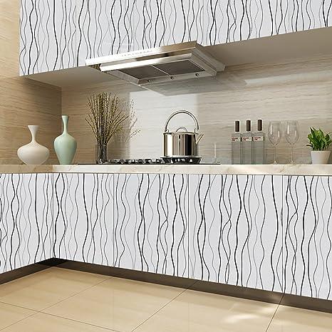 KINLO PVC 0.61 x 5M Wallpaper Sticker etichette autoadesive Cabinet ...