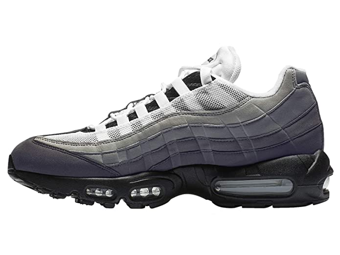 Nike Men's Air Max 95 BlackWhiteGraniteDust Leather Casual Shoes 8 M US