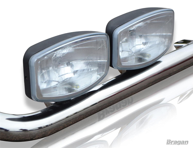 Bragan bra21411fl71 W iluminación de techo barra de acero inoxidable + Lunares + LED: Amazon.es: Coche y moto
