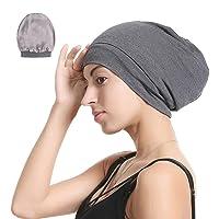 Satin Silk Lined Sleep Cap Beanie Slap Hat – Gifts for Women