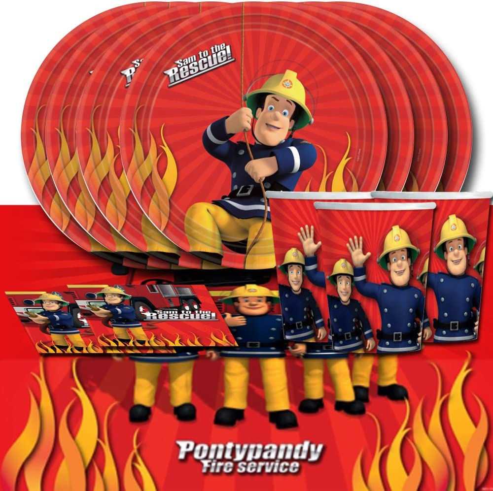 FREE P+P CHOOSE YOUR SIZE Quality Large Fireman Sam Poster and his Fire Crew