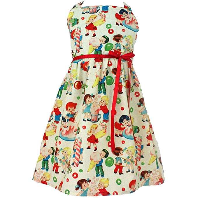 Kids 1950s Clothing & Costumes: Girls, Boys, Toddlers Kids Hemet Vintage Candy Dress Beige $34.95 AT vintagedancer.com
