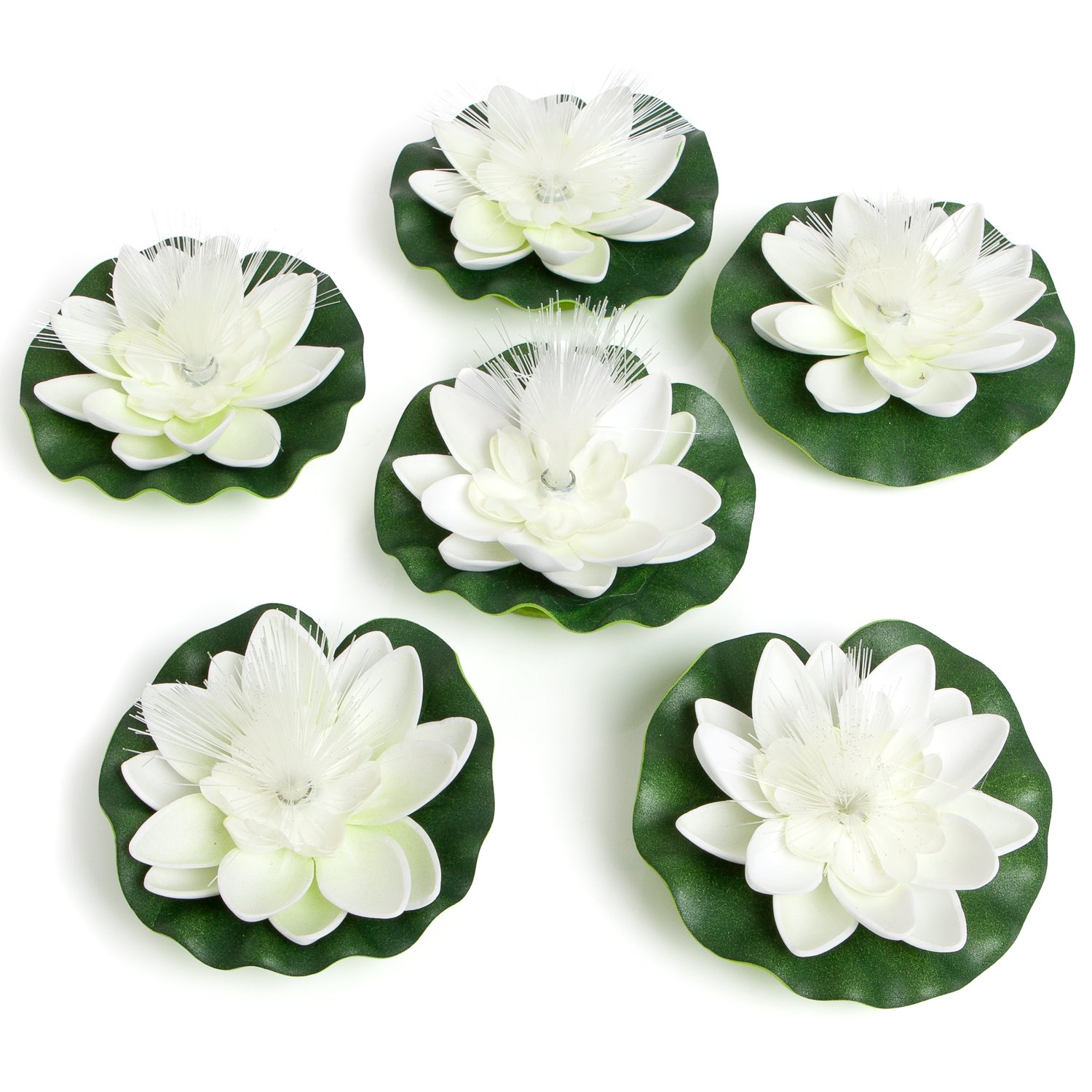 Amazon Best Floating Flowers With Lights Set Of 6 White