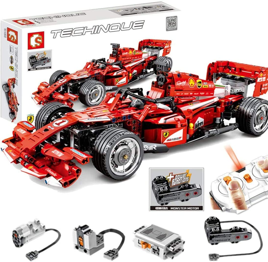 Pexl Technic Formula 1 Car Building Set For Ferrari F1 Car Rc Racing Car Construction Set With Remote Control And Motors 580 Pieces Blocks Compatible With Lego Technic Amazon Co Uk Kitchen Home