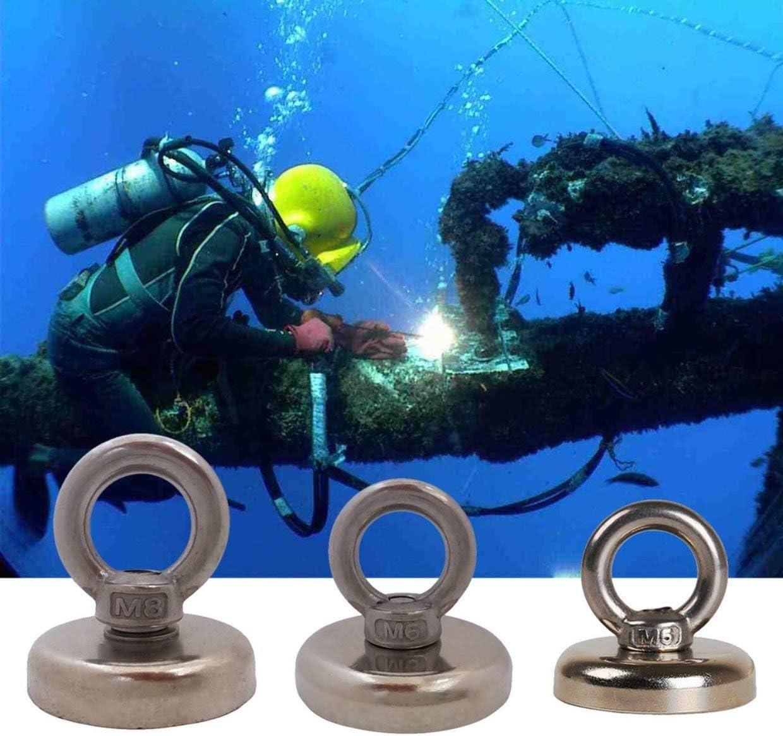 50KG Silber YUIO Super Strong Stahl Magnet Recovery Magnet Haken Professional Pulling Mounting Magnet f/ür Seefischerei Tauchen Schatzsuche