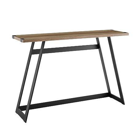 WE Furniture AZF46MWETRO Entryway Table, 46 , Rustic Oak
