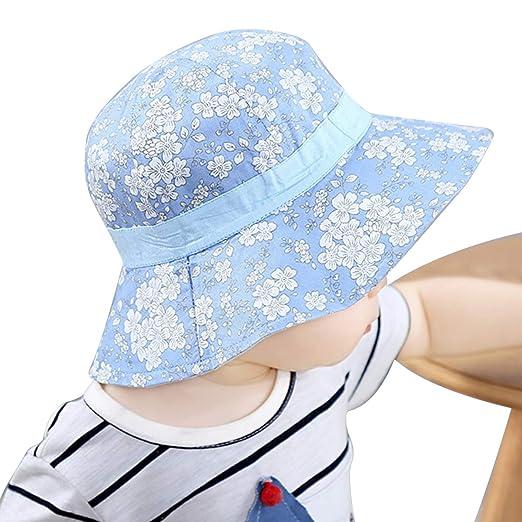 7f0eba5b4 Baby Sun Hat, Adjustable Kids Toddler Sun Protection Swim Hat Outdoor Beach  Summer Play Bucket Hats for Baby Boys & Girls
