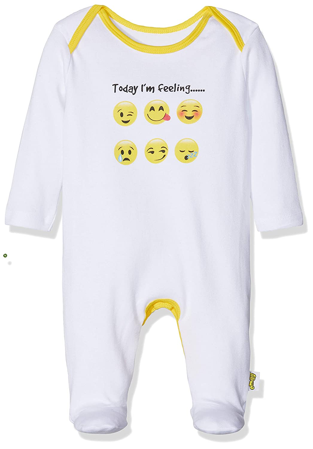Emoji Baby Unisex Sleepsuit Ages 0 Months to 18 Years