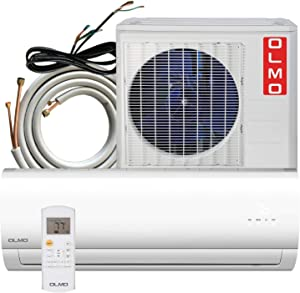 OLMO Alpic 24000 BTU Ductless Mini Split Air Conditioner Heating and Cooling with Heat Pump and Installation Kit 16' Included