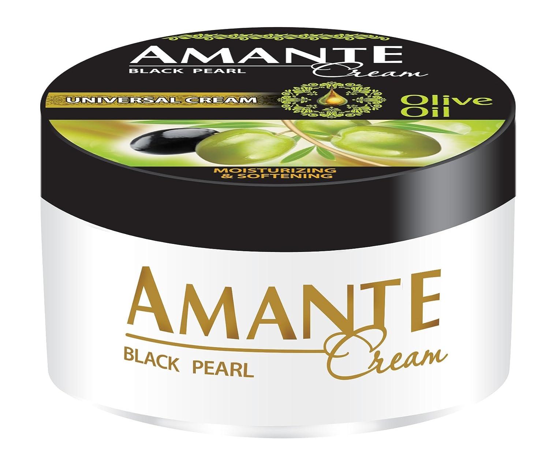 AMANTE - Black Pearl - Crema universal para cuerpo y manos - Nutritiva y revitalizante - 200 ml - Aceite de oliva: Amazon.es: Belleza