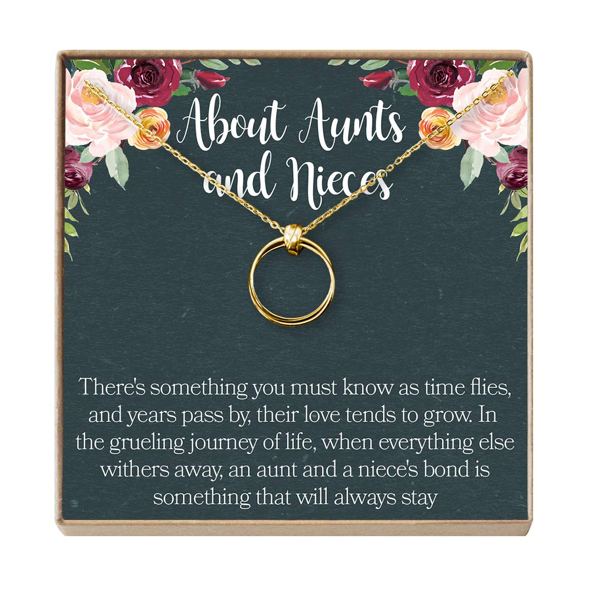 Aunt-Niece Quotes Dear Ava Aunt-Niece Necklace: Aunt-Niece Gift Aunt Necklace 2 Linked Circles Aunt-Niece Jewelry