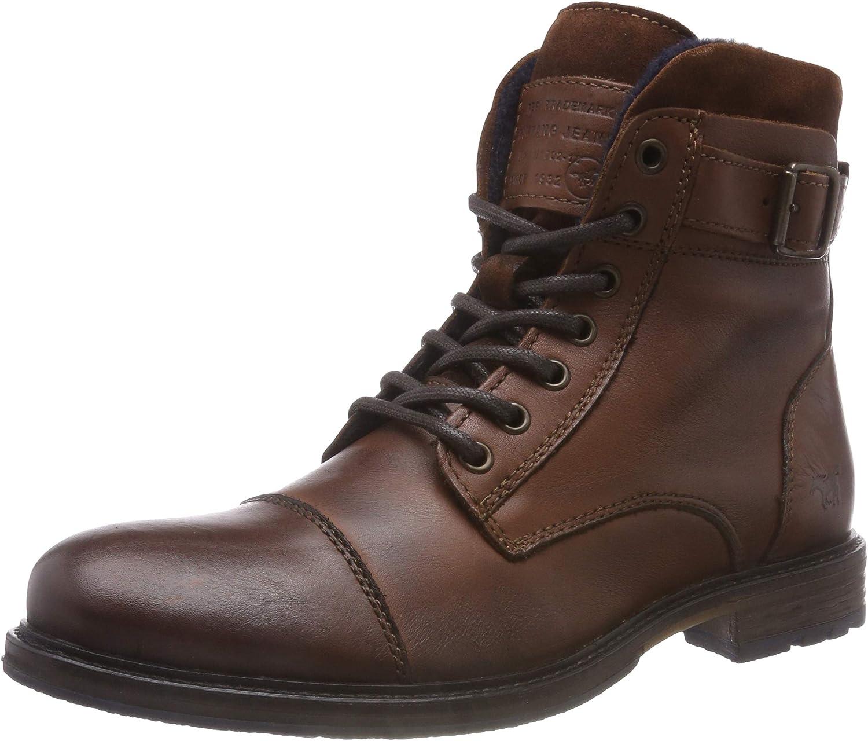 Mustang Schnür-Boot, Botas Clasicas para Hombre, Marrón (Kastanie 301), 42 EU