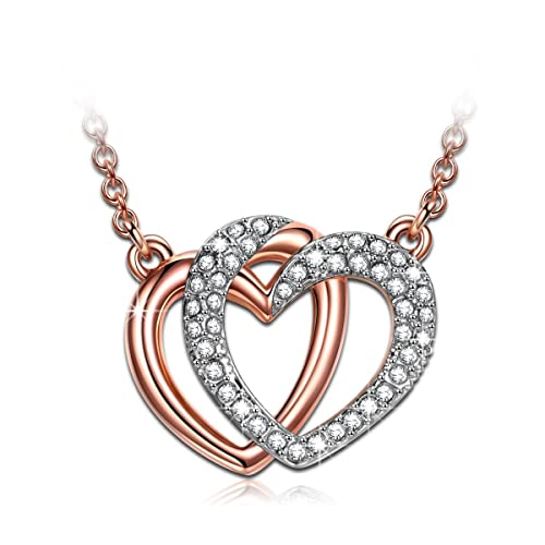 6f4519800 J.NINA Valentines Jewelry Gifts for Her with Swarovski Crystals Rose-Gold  Plated Jewelry
