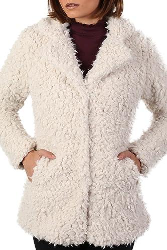PILOT® shaggy tacto suave de piel sintética chaqueta de manga larga