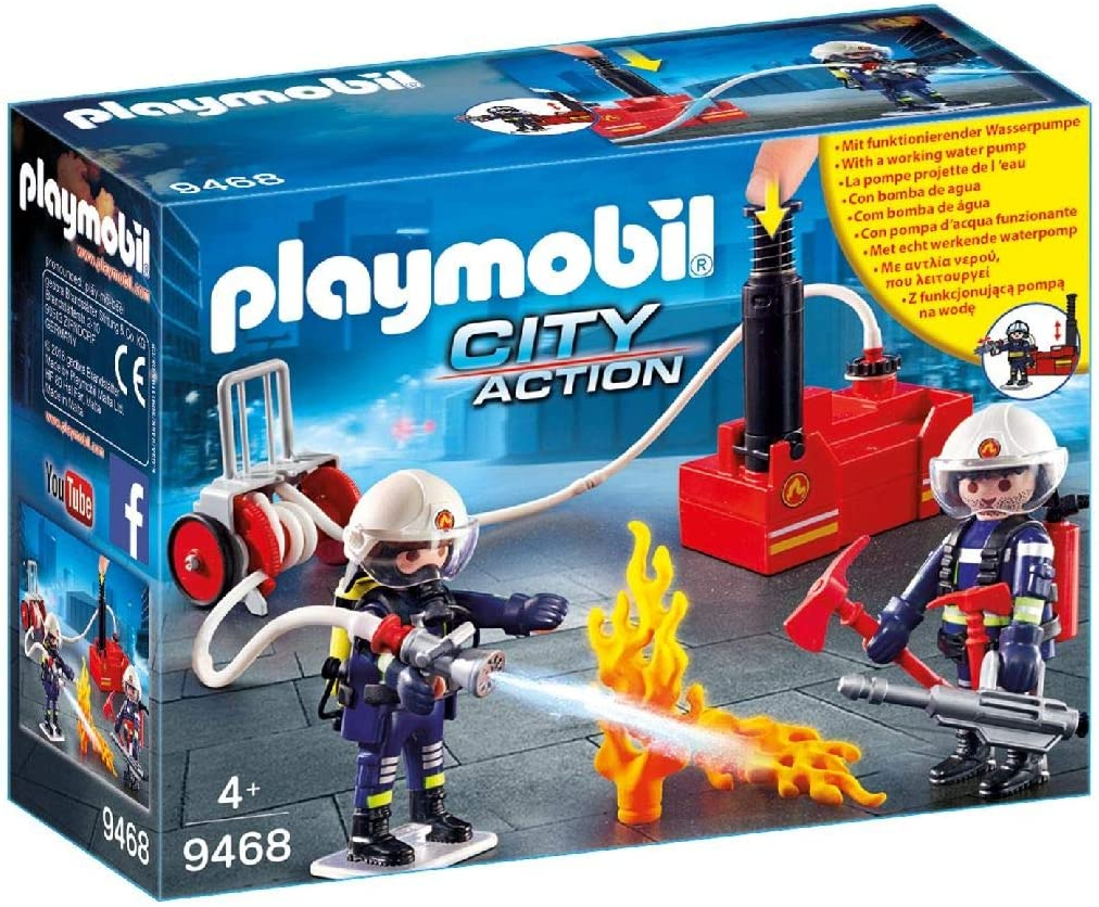 PLAYMOBIL City Action Bomberos con Bomba de Agua, a Partir de 5 ...