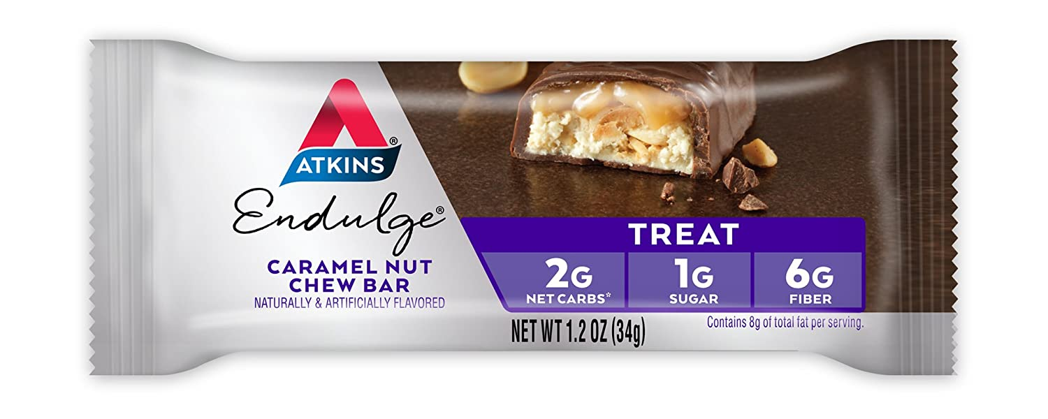 Amazon.com: Atkins Endulge Treat, Caramel Nut Chew Bar, 5 Count: Health & Personal Care