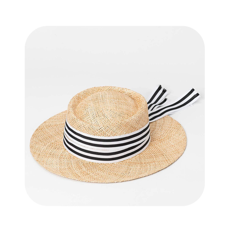003 Stripe Women Sun Hat Summer Holiday Beach Hats Ladies Tope Hat wi,