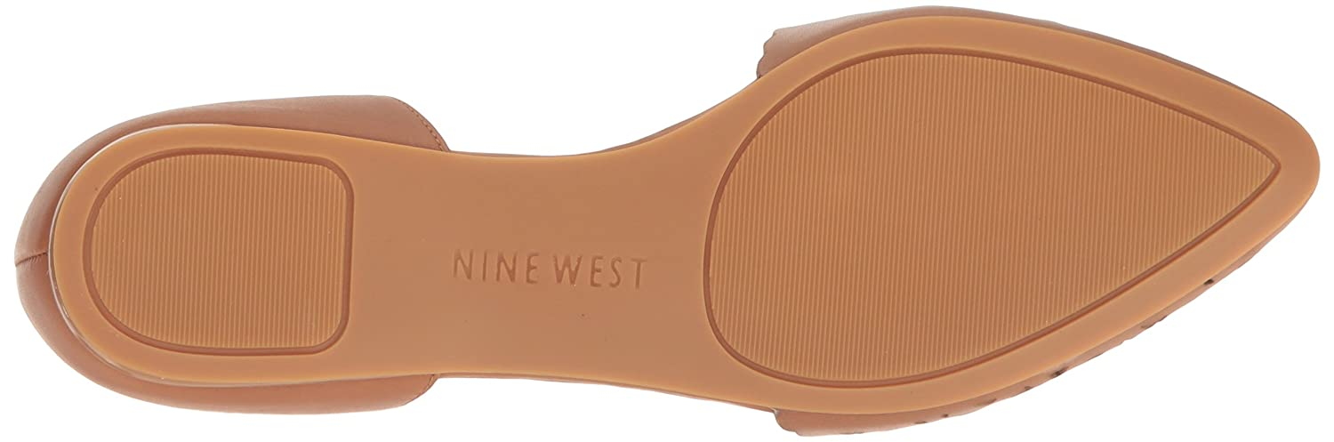 Nine West Women's Soto Leather Pointed Toe Flat B01LY580QH 10.5 B(M) US|Dark Natural