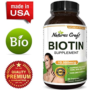 Amazon.com: Biotin Supplement with Vitamin B Complex for Stronger ...