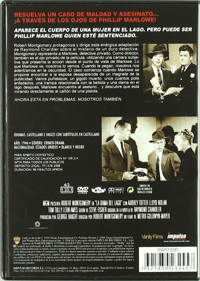 La Dama Del Lago [DVD]: Amazon.es: Robert Montgomery, Tom Tully ...