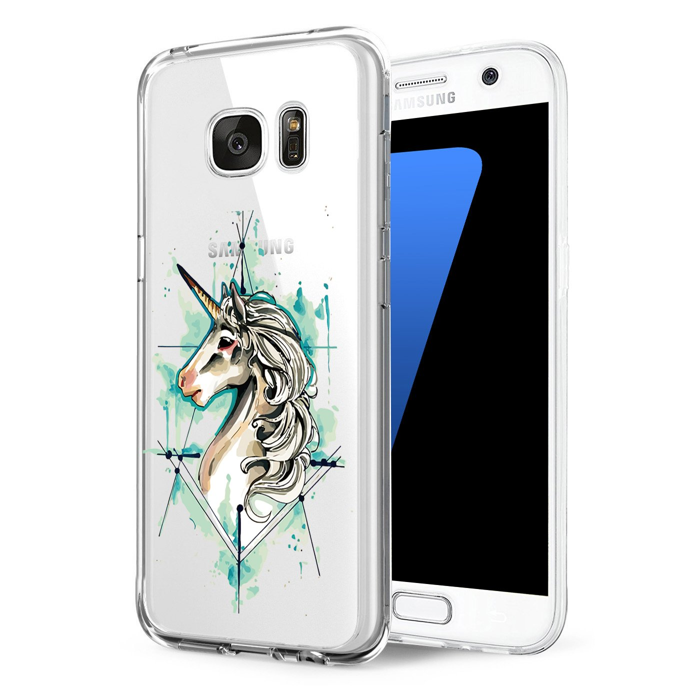 Eari Samsung S6 Case, TPU Silicone Rubber Cute Anti-Scratch Slim Ultra Protective Clear Shock-Absorption Bumper Soft Amusing Design for Samsung Galaxy S6 5.1 zoll - Black Cover (2, Galaxy S6)