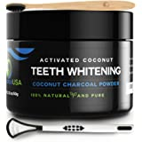 Activated Charcoal Teeth Whitening Powder [FREE Bamboo Toothbrush] Natural Whitening Teeth, Personal Coconut Charcoal  [BRIGH