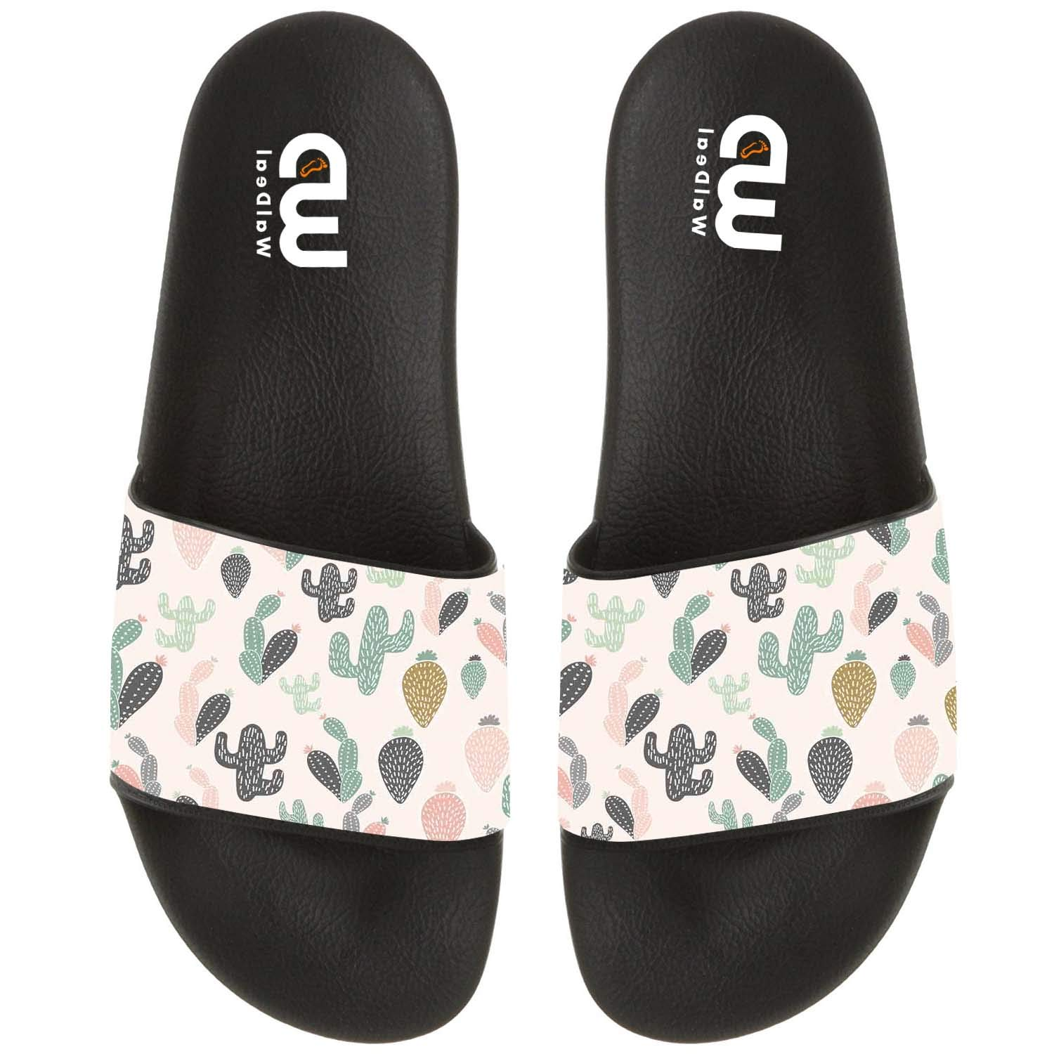 Cartoon Cactus Print Summer Slide Slippers For Girl Boy Kid Non-Slip Sandal Shoes size 3
