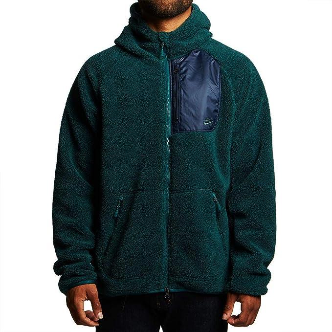 later pretty nice hot sales Nike Men's Everett Fleece Full Zip Sherpa Hoodie (Medium) at ...