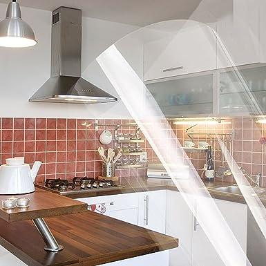 Yazi – Vinilo transparente, adhesivo, reacondicionado para ventana, recubrimiento de mesas, cocinas y armario, plástico, transparente, 60x250cm/23.6x 98.4inch 2mil(1mil=0.001 inch): Amazon.es: Industria, empresas y ciencia