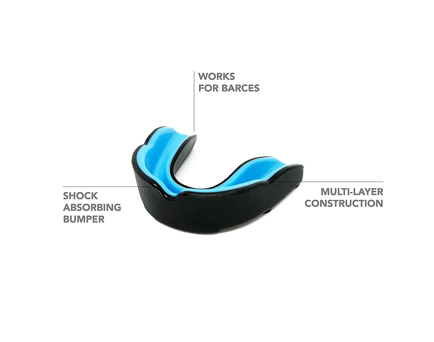 Alfarolamas Mouth Guard Sports for Kids and Adults Hockey Braces BJJ Boxing BPA Free Fight /& Faith Rugby and Other Contact Sports Youth Lacrosse Football Sportwear Best Protection for MMA