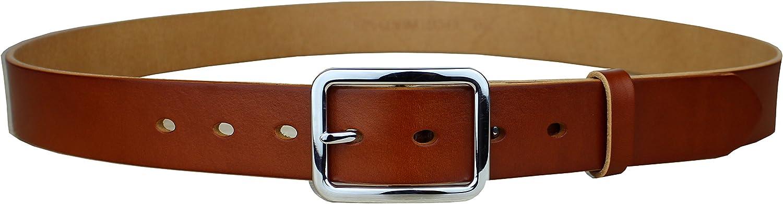 Heepliday Mens Genuine Casual Leather Dress Belt 1.3 Wide