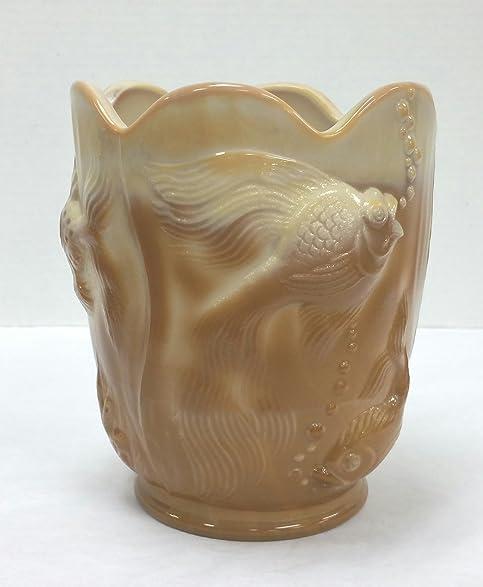 Amazon Fenton Glass Caramel Slag Atlantis Series Vase Home