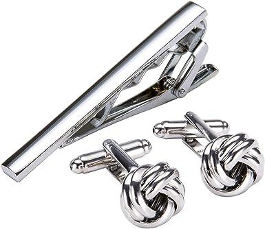 Dubulle - Juego de gemelos y clip de corbata para hombre, diseño ...