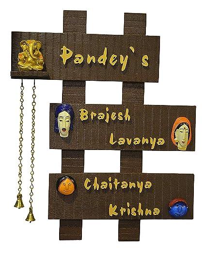 Buy Karigaari Wooden Family Name Plate Online At Low Prices In India