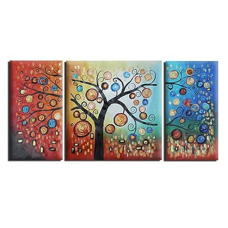 Raybre Art® 3pcs/set 100% Dipinti a Mano Quadri Olio su Tela Moderni ...