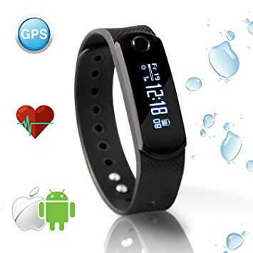 Smart Cardio Bracelet / Fitness Tracker dactivité / Montre Connectée | Etanche, Bluetooth