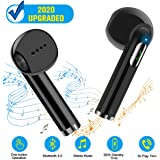Wireless Earbuds,Bluetooth Earbuds Wireless Earphones Stereo Wireless Earbuds with Microphone/Charging Case Bluetooth in Ear Earphones Sports Earpieces Compatible iOS Samsung Android Phones Black