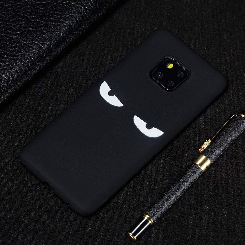 TPU Silicone Souple Noir Cover Ultra Mince Cas Solide Durable Anti-Chute Etui Housse Mobile T/él/éphone Case-Navigator Coque pour Huawei Mate 20 Pro